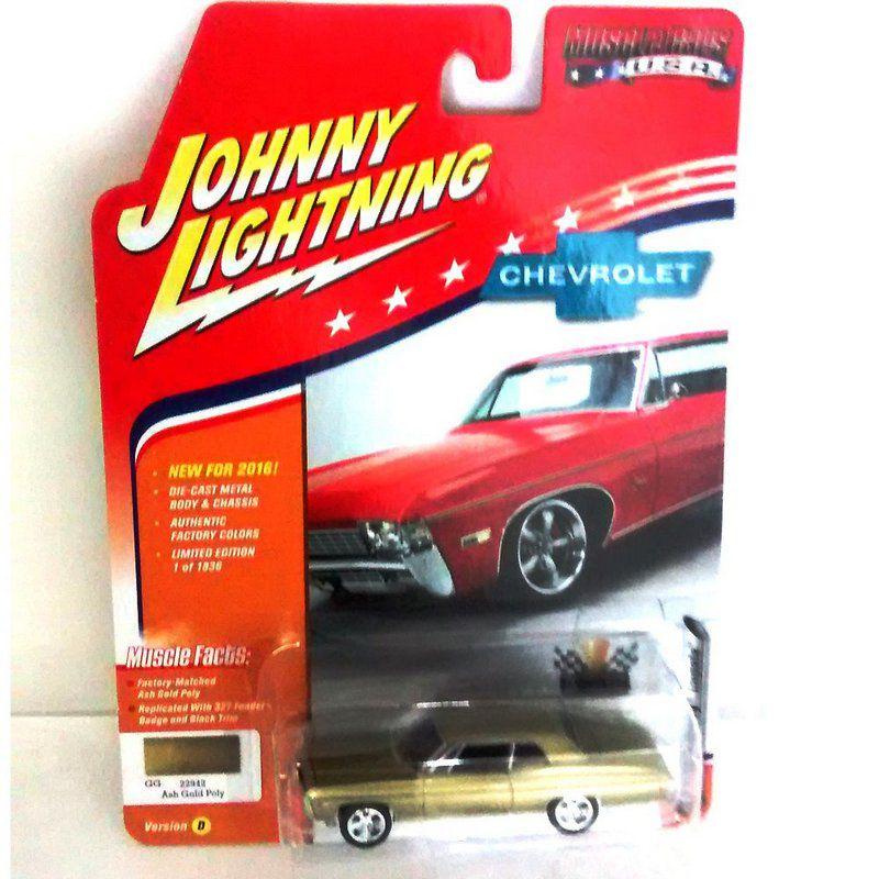 Miniatura Chevrolet Impala 1968 Muscle Cars USA D 1/64 Johnny Lightning