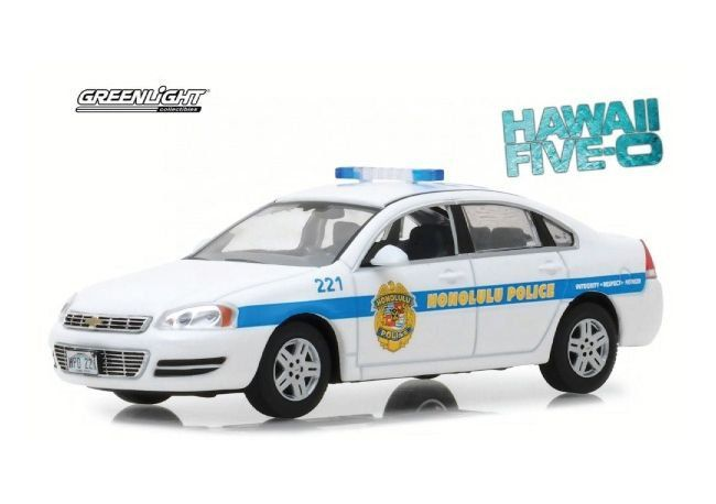 Miniatura Chevrolet Impala Policia Cruiser 2010 Hawaii Five-0 1/43 Greenlight Hollywood