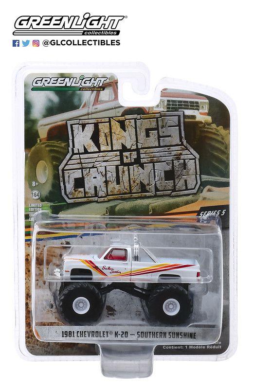 Miniatura Chevrolet K20 Silverado 1981 Monster Truck 1/64 Greenlight