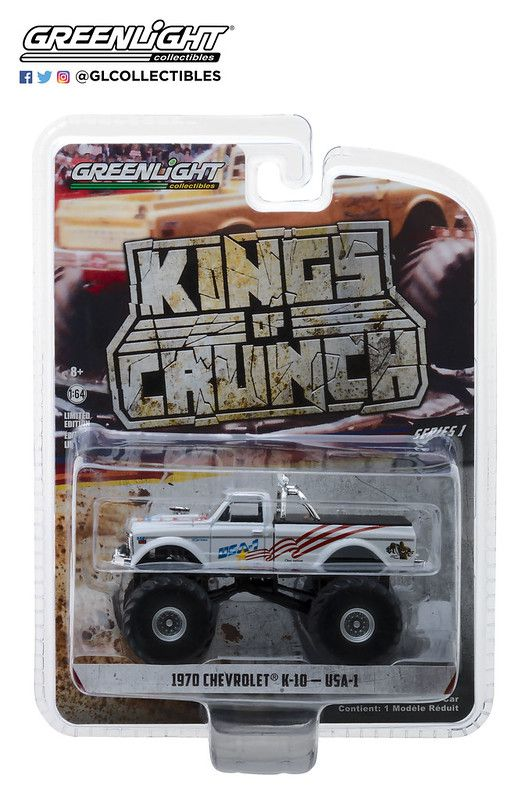 Miniatura Chevrolet K 10 1970 Monster Truck 1/64 Greenlight