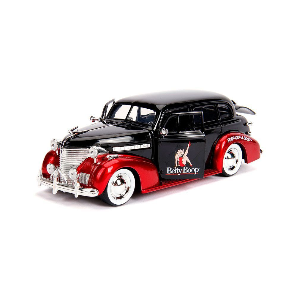 Miniatura Chevrolet Master Deluxe 1939 Betty Boop com Boneco 1/24 Jada Toys