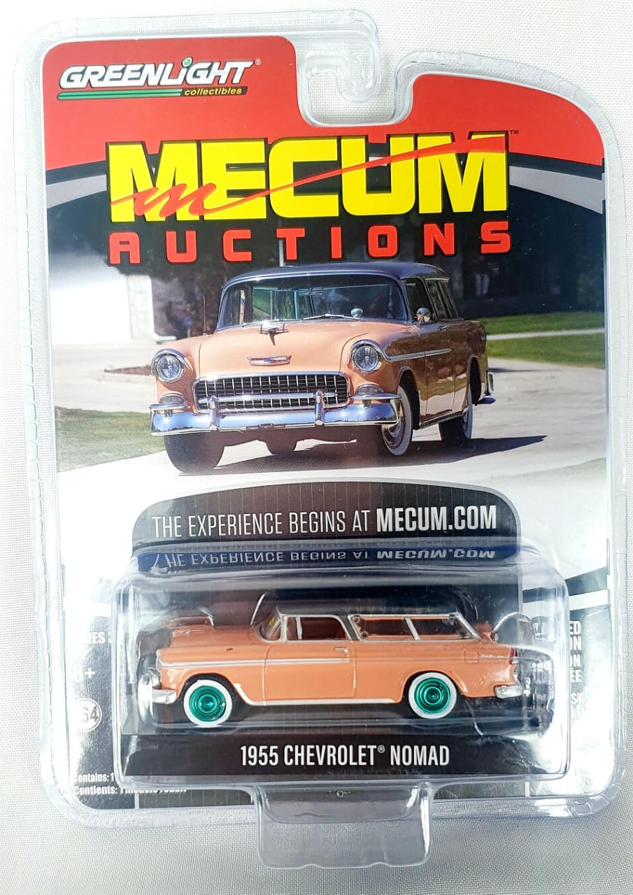 Miniatura Chevrolet Nomad 1955 Mecum Auctions Greenmachine 1/64 Greenlight