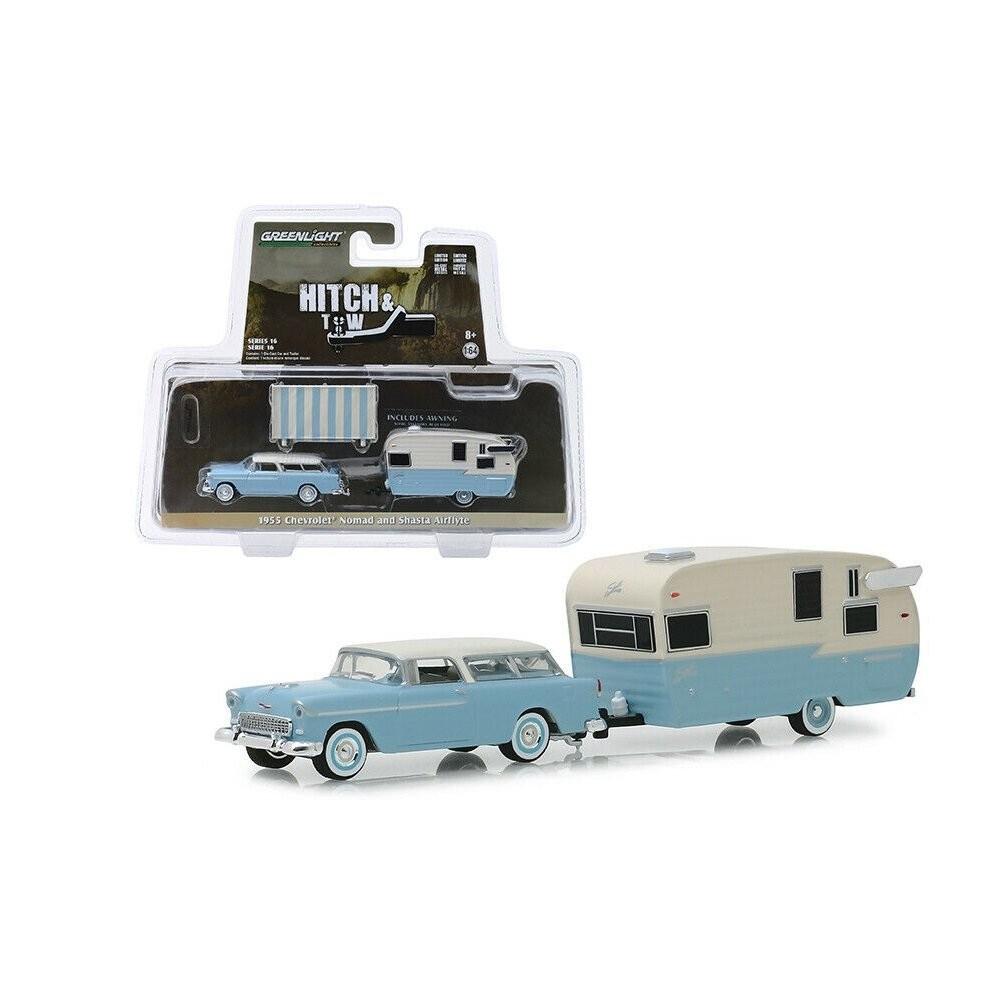 Miniatura Chevrolet Nomad 1955 Trailer 1/64 Greenlight