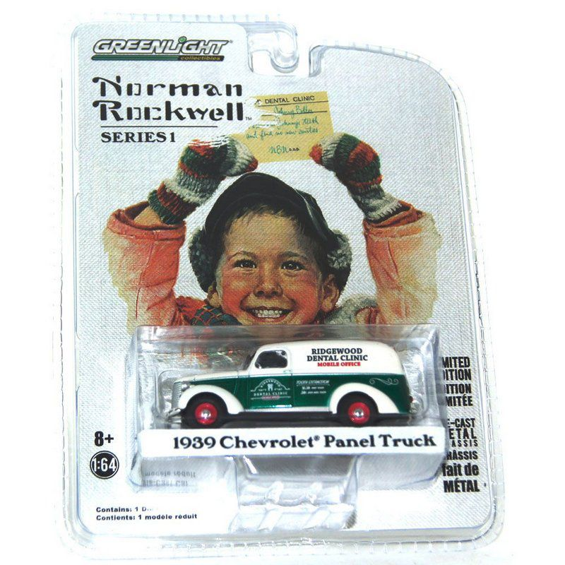 Miniatura Chevrolet Panel Truck 1939 Norman Rockwell 1/64 Greenlight