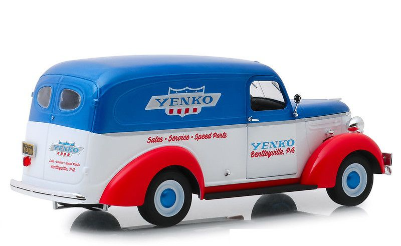 Miniatura Chevrolet Panel Truck 1939 Yenko Sales and Service 1/24 Greenlight