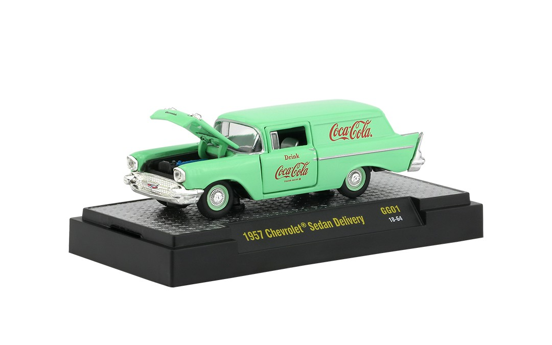 Miniatura Chevrolet Sedan Delivery 1957 Coca Cola Georgia Green 1/64 M2
