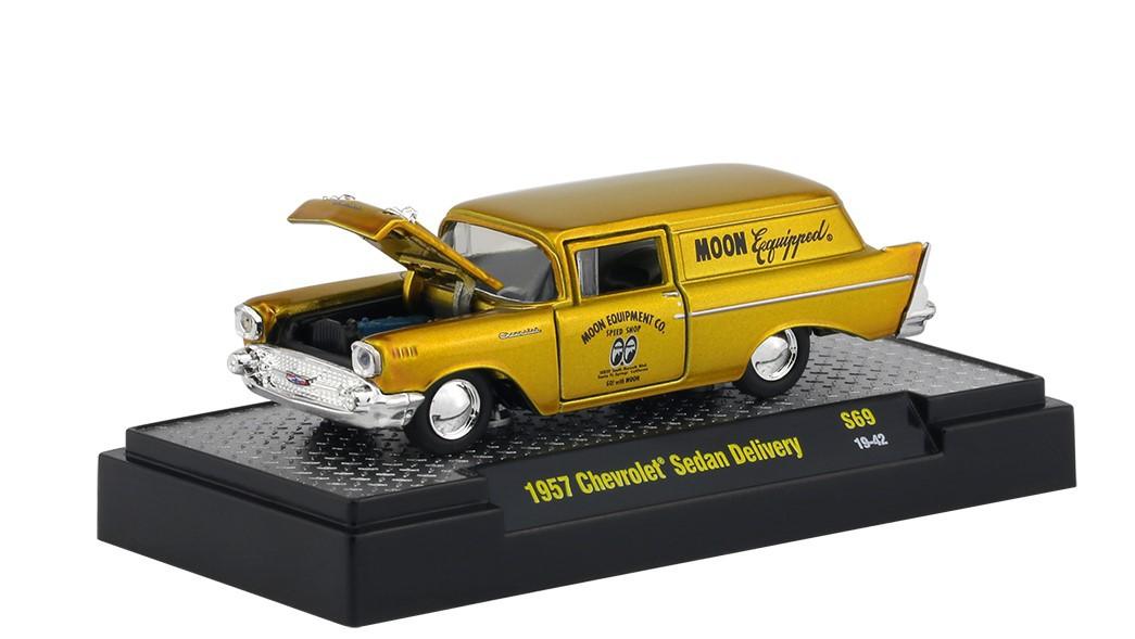 Miniatura Chevrolet Sedan Delivery 1957 Mooneyes 1/64 M2