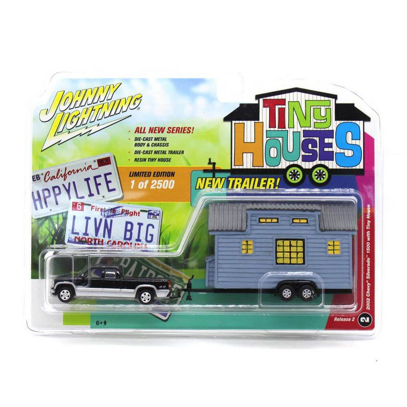 Miniatura Chevrolet Silverado 2002 Tiny Houses 1/64 Johnny Lightning