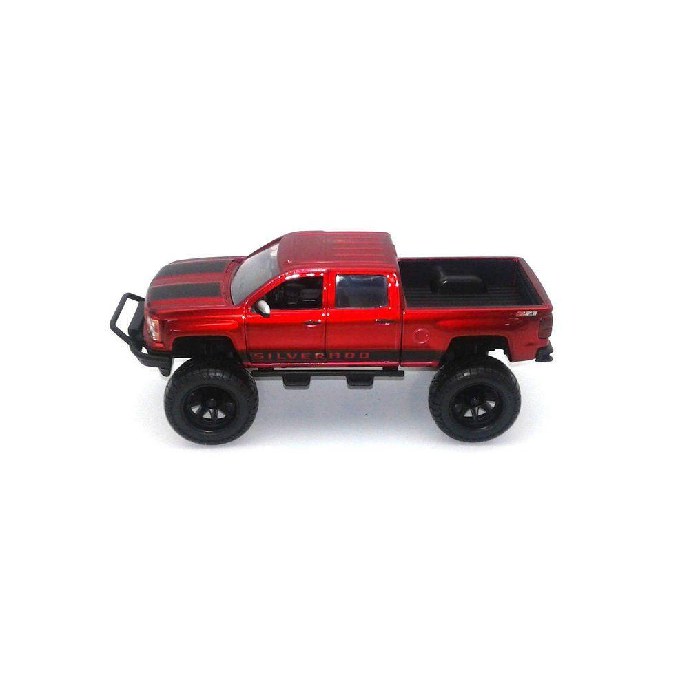 Miniatura Chevrolet Silverado 2014 Vermelho 1/24 Jada Toys
