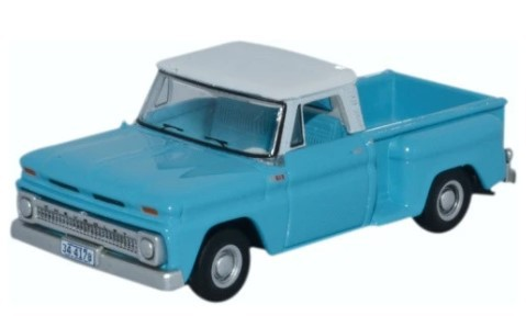 Miniatura Chevrolet Stepside Pick up 1965 Light Blue 1/87 Oxford