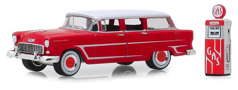 Miniatura Chevrolet Two Ten 1955 com bomba Hobby Shop 1/64 Greenlight