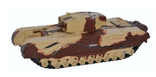 Miniatura Churchill Tank  MKIII Kingforce 1/76 Oxford