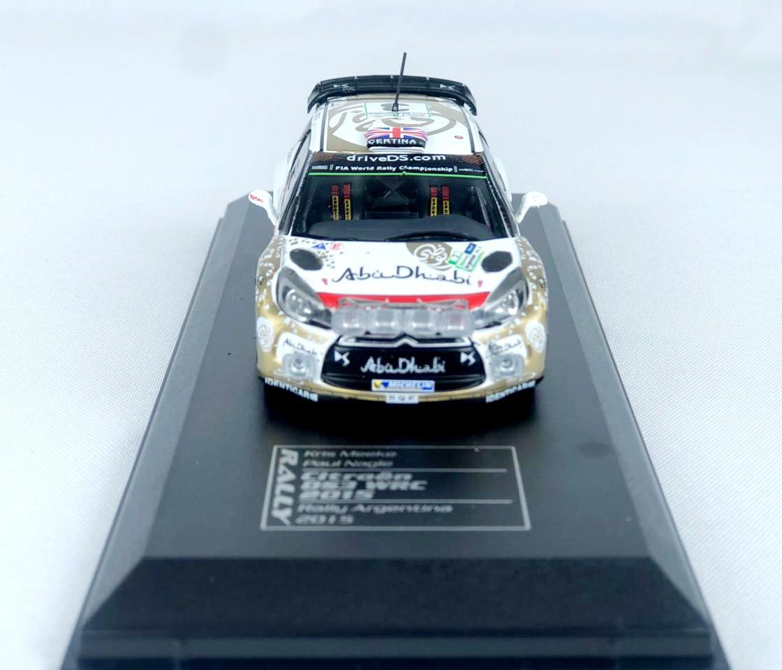 Miniatura Citroen DS3 WRC Rally Argentina 2015 1/43 Ixo