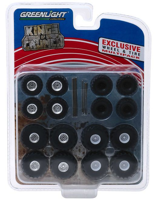 Miniatura Conjunto Multipack Rodas e Pneus Kings Of Crunch 1/64 Greenlight