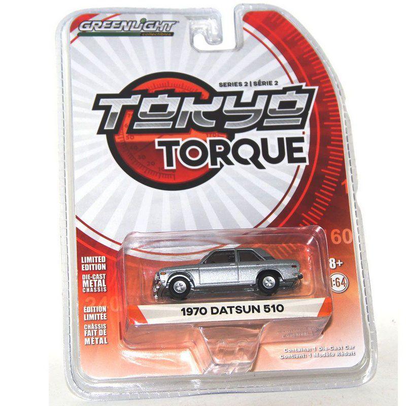 Miniatura Datsun 510 1970 Tokyo Torque 1/64 Greenlight