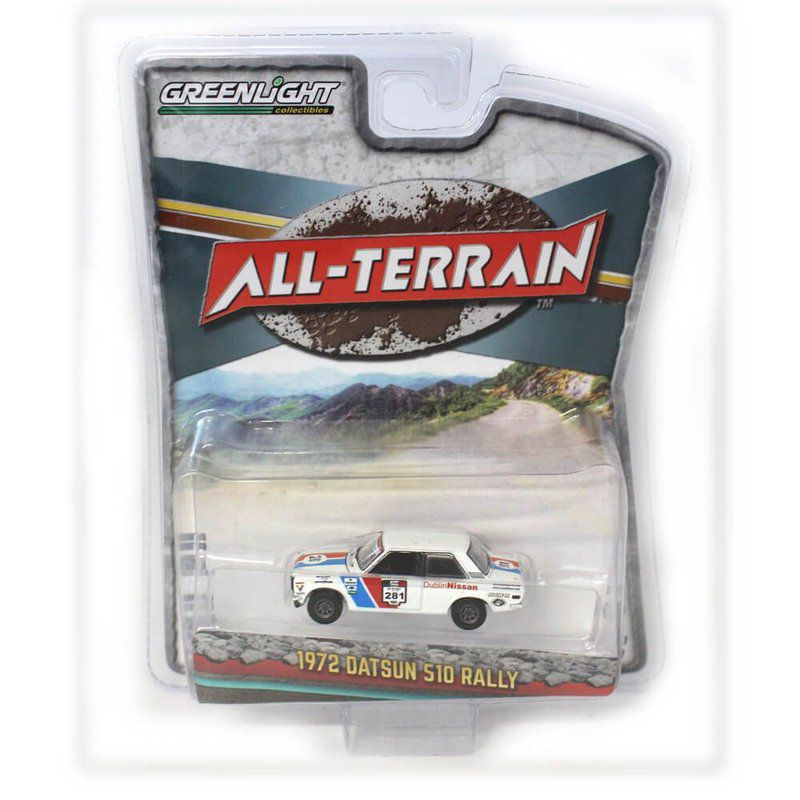 Miniatura Datsun 510 Rally 1972 All Terrain Serie 7 1/64 Greenlight