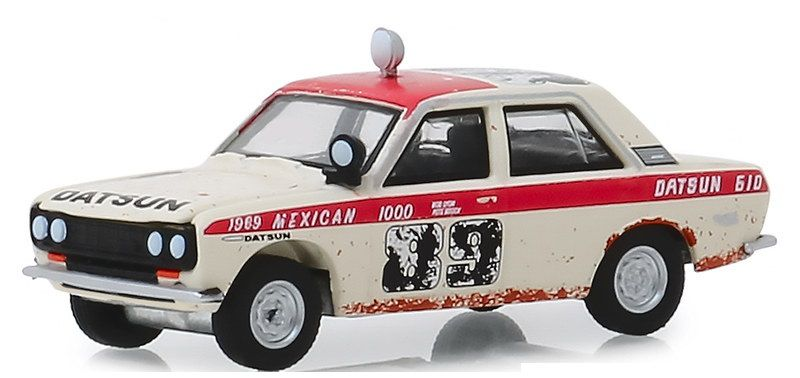 Miniatura Datsun 540 4-Door Sedan 1969 1/64 Greenlight