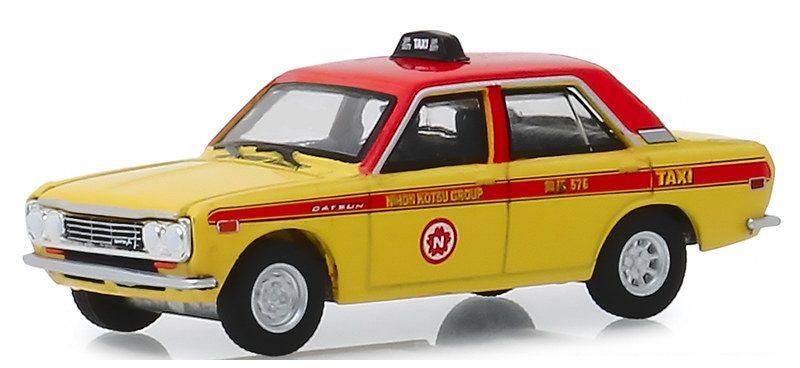 Miniatura Datsun 540 4-Door Sedan 1969 Taxi 1/64 Greenlight
