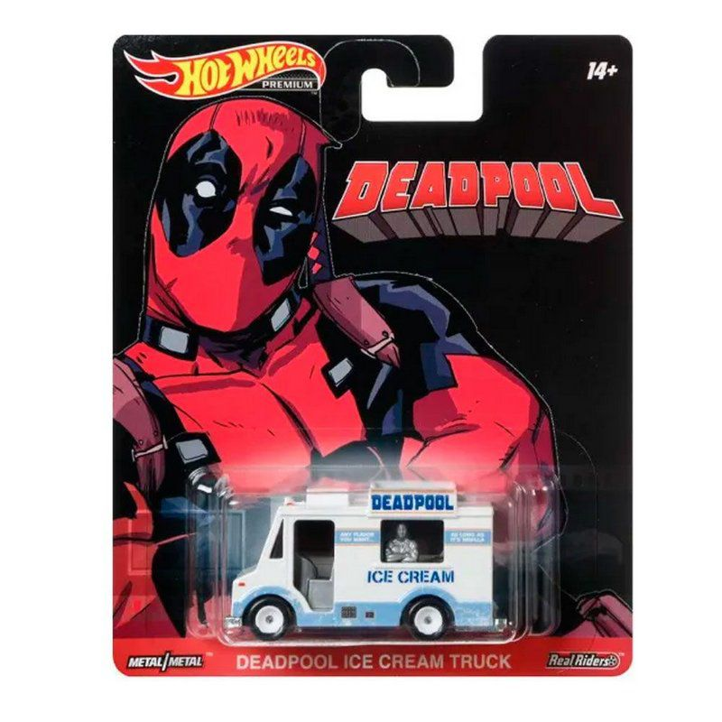 Miniatura Deadpool Ice Cream Truck 1/64 Hot Wheels