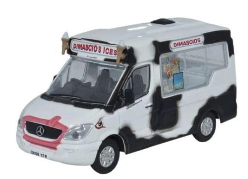 Miniatura Dimascios Whitby Mondial Ice Cream Van 1/76 Oxford