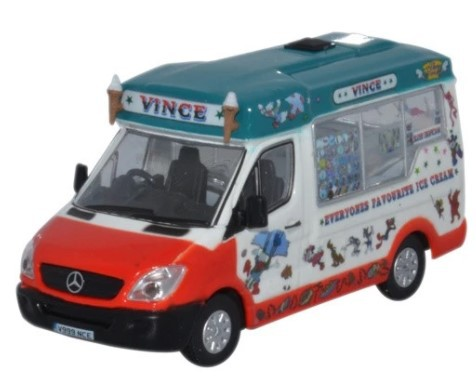 Miniatura Dimascios Whitby Mondial Ice Cream Van Vinces 1/76 Oxford