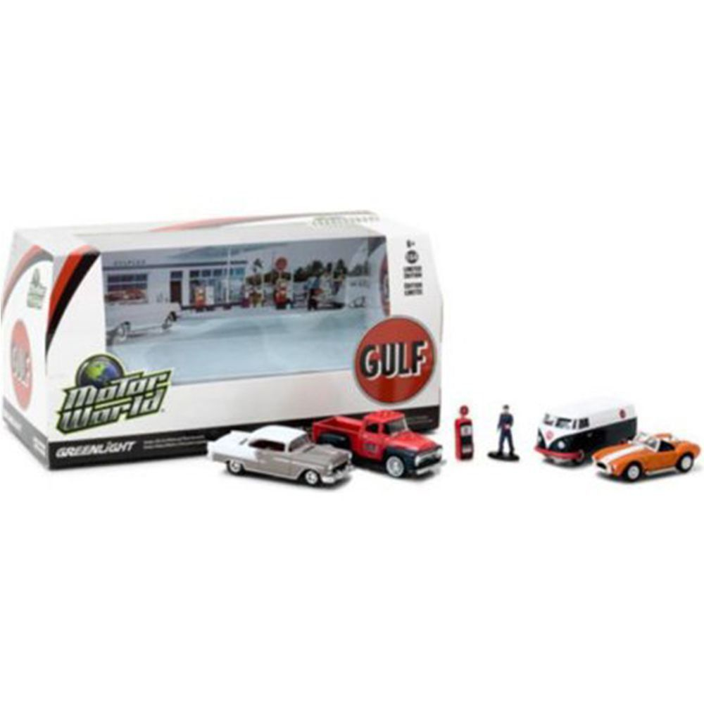 Miniatura Diorama Gulf Motor World 1/64 Greenlight