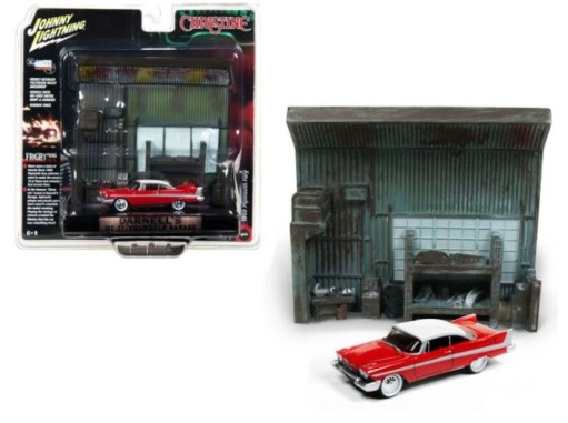 Miniatura Diorama Plymouth Fury 1958 Christine 1/64 Johnny Lightning