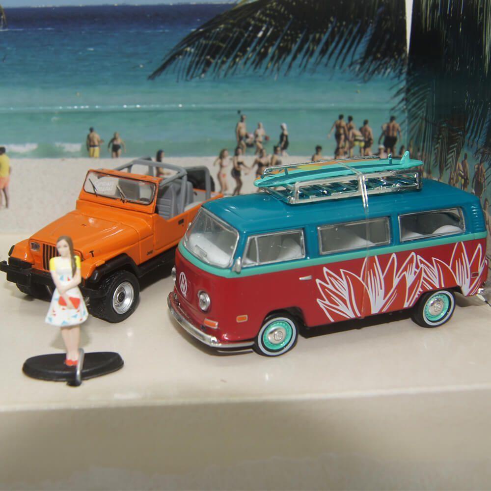 Miniatura Diorama Spring Break Road Trip 1/64 Greenlight