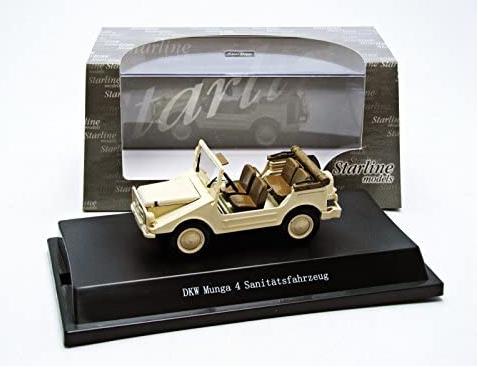 Miniatura DKW Munga Bege Sem Capota 1/43 Starline