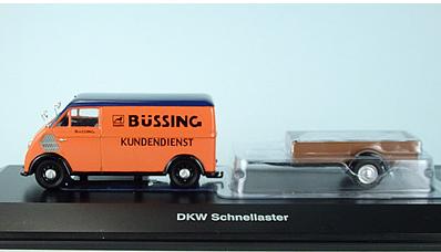 Miniatura DKW Schnellaster m Anhanger Bussing 1/43 Schuco