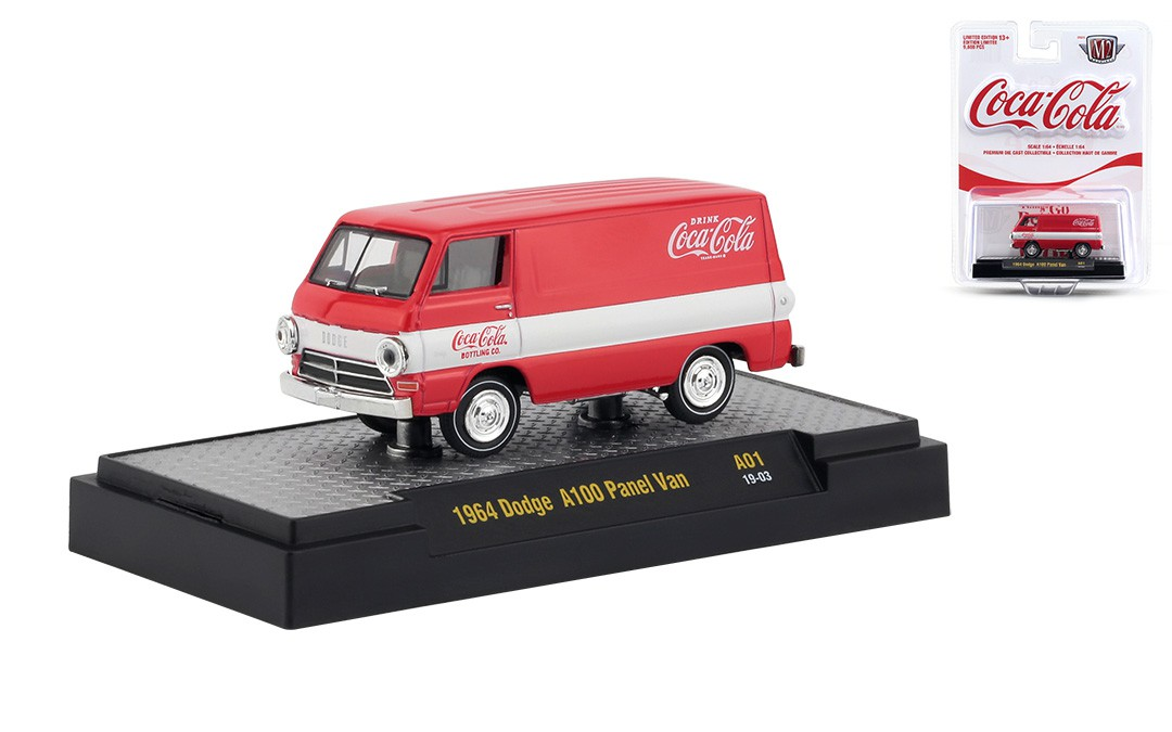 Miniatura Dodge A100 Panel Van 1964 Coca Cola 1/64 M2