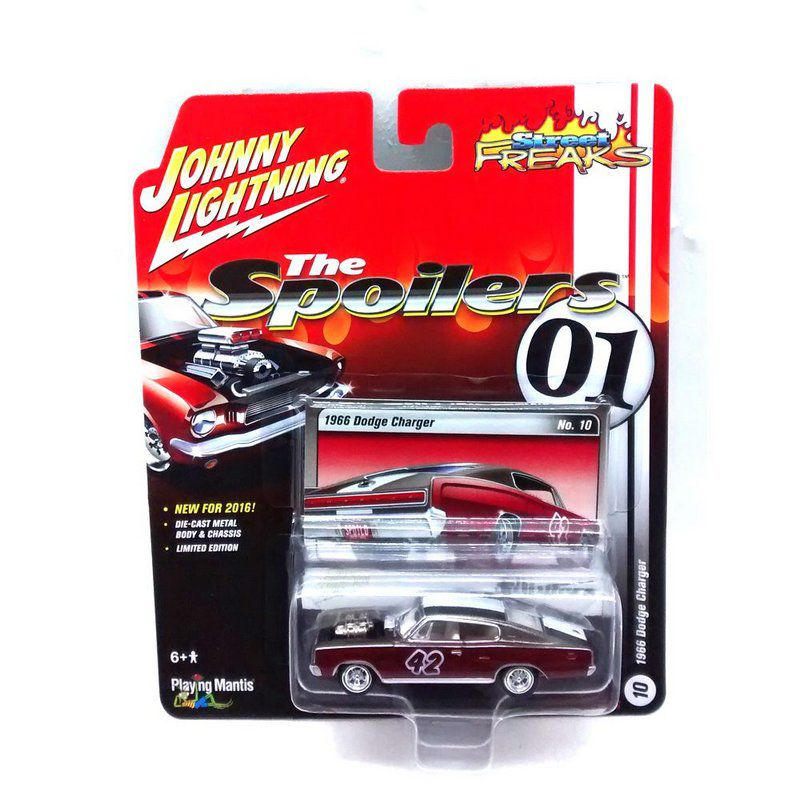 Miniatura Dodge Charger 1966 The Spoilers 01 D 1/64 Johnny Lightning
