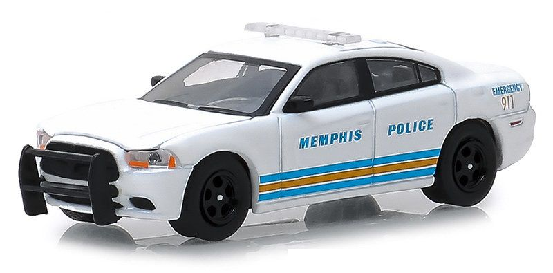 Miniatura Dodge Charger 2011 Policia Hot Pursuit 1/64 Greenlight