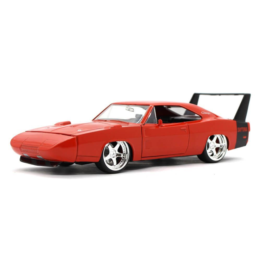 Miniatura Dodge Charger Daytona Custom 1969 Laranja 1/24 Jada Toys Big Time Muscle