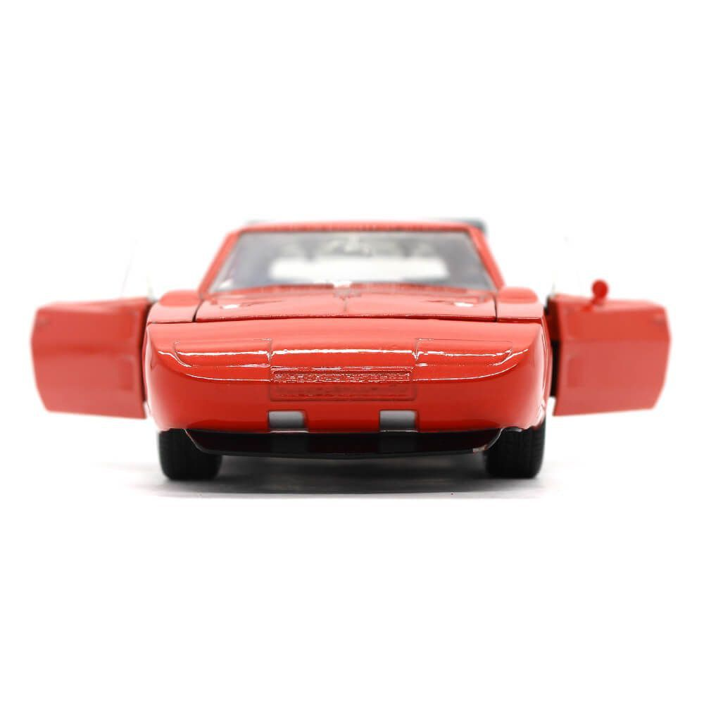 Miniatura Dodge Charger Daytona Custom 1969 Laranja 1/24 Jada Toys Big Time Muscle