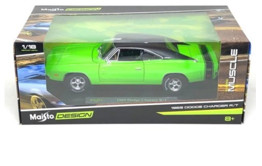 Miniatura Dodge Charger R/T Design 1969 1/18 Maisto