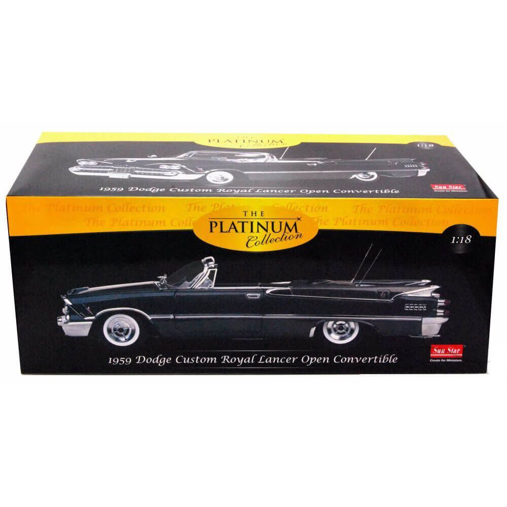 Miniatura Dodge Custom Royal Lancer Open Convertible 1959 1/18 Sun Star