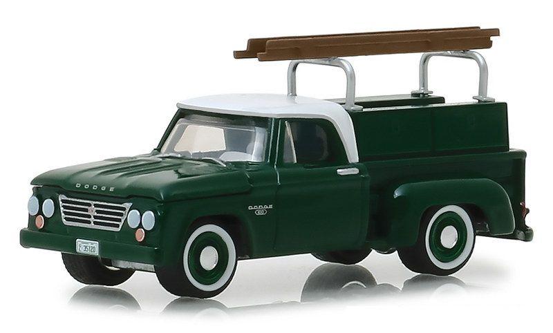 Miniatura Dodge D-100 1963 Com Escada 1/64 Greenlight