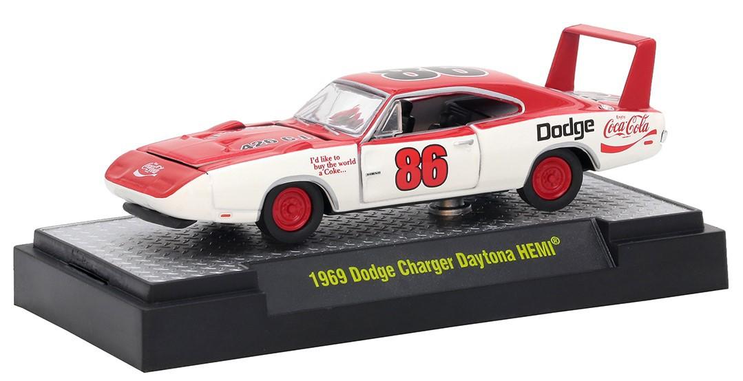 Miniatura Dodge Daytona HEMI 1969 Coca Cola Race Car 1/64 M2