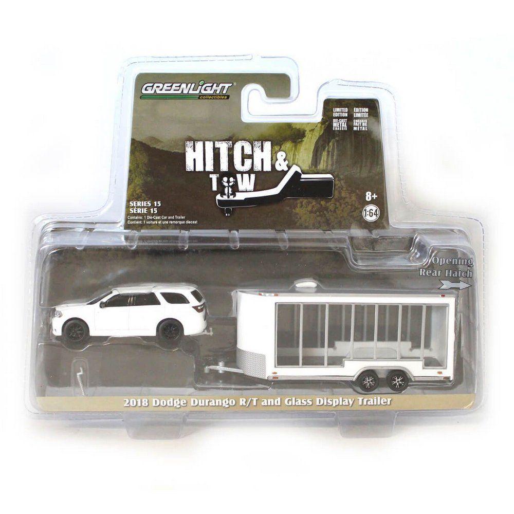 Miniatura Dodge Durango R/T 2018 e Trailer Hitch & Tow Serie 15 1/64 Greenlight