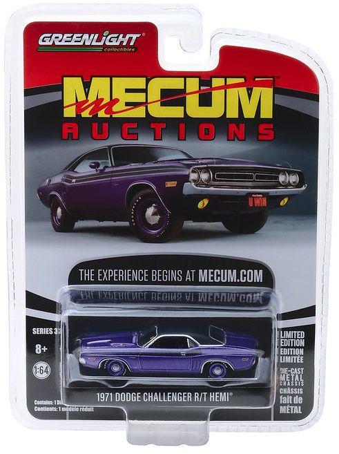 Miniatura Dodge Hemi Challenger 1971 Mecum Auctions 1/64 Greenlight