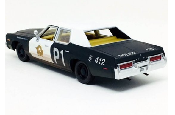 Miniatura Dodge Monaco 1974 Blues Blorhers 1/24 Greenlight Hollywood