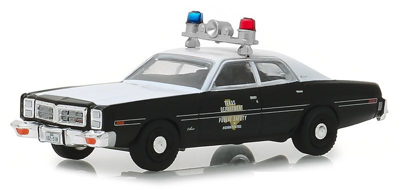 Miniatura Dodge Monaco 1977 Polícia Hot Pursuit 1/64 Greenlight