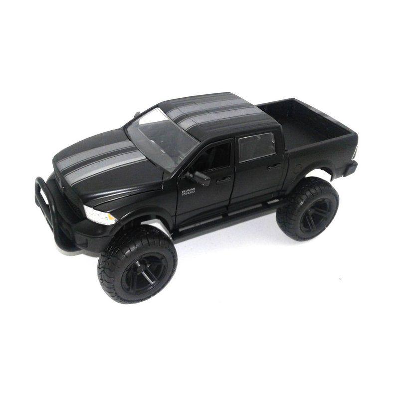 Miniatura Dodge Ram 1500 2014 Preto 1/24 Jada Toys