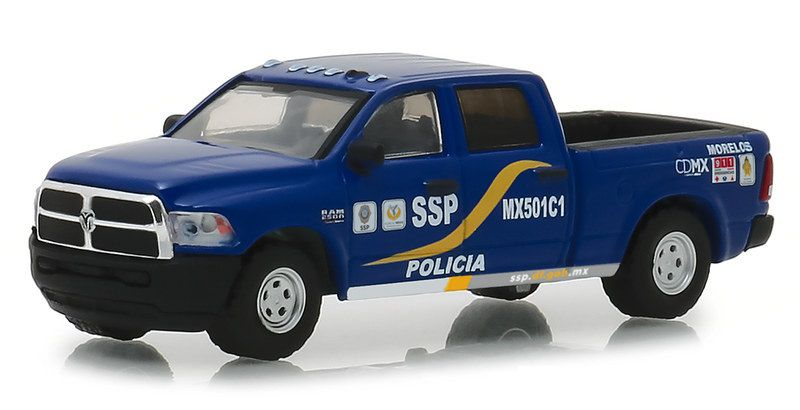 Miniatura Dodge Ram 2500 2017 Polícia Hot Pursuit 1/64 Greenlight