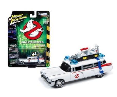 Miniatura ecto 1 Cadillac 1959  Ghostbusters Caça Fantasmas 1/64 Johnny Lightning