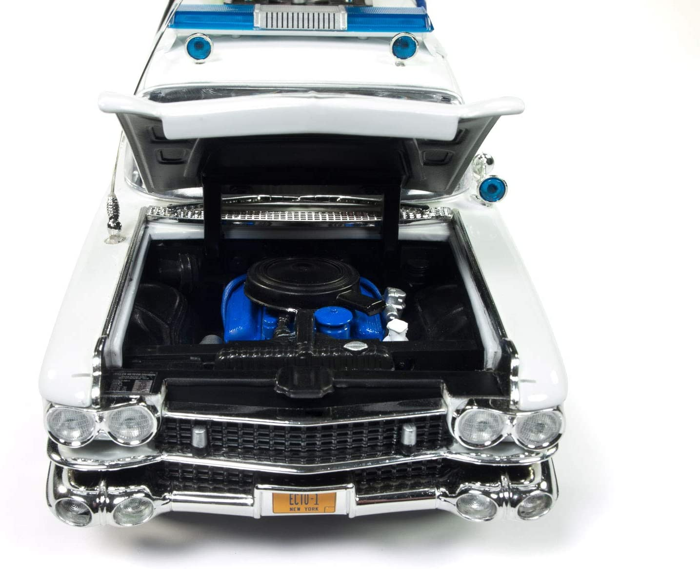 Miniatura Ecto 1 Os Caça Fantasmas 1 1959 Cadillac 1/18 Auto World