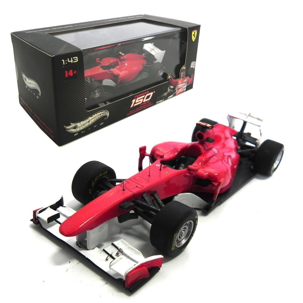 Miniatura Ferrari 150° Italia Fernando Alonso Turkish Gp 2011 Hot Wheels Elite 1:43