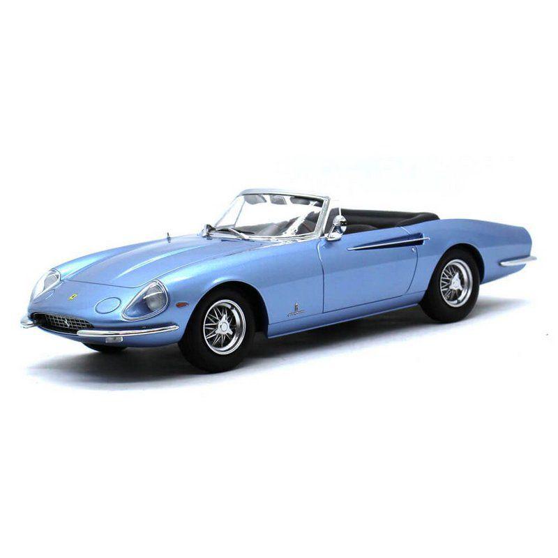 Miniatura Ferrari 365 California Spider 1966 Azul 1/18 KK Scale Models