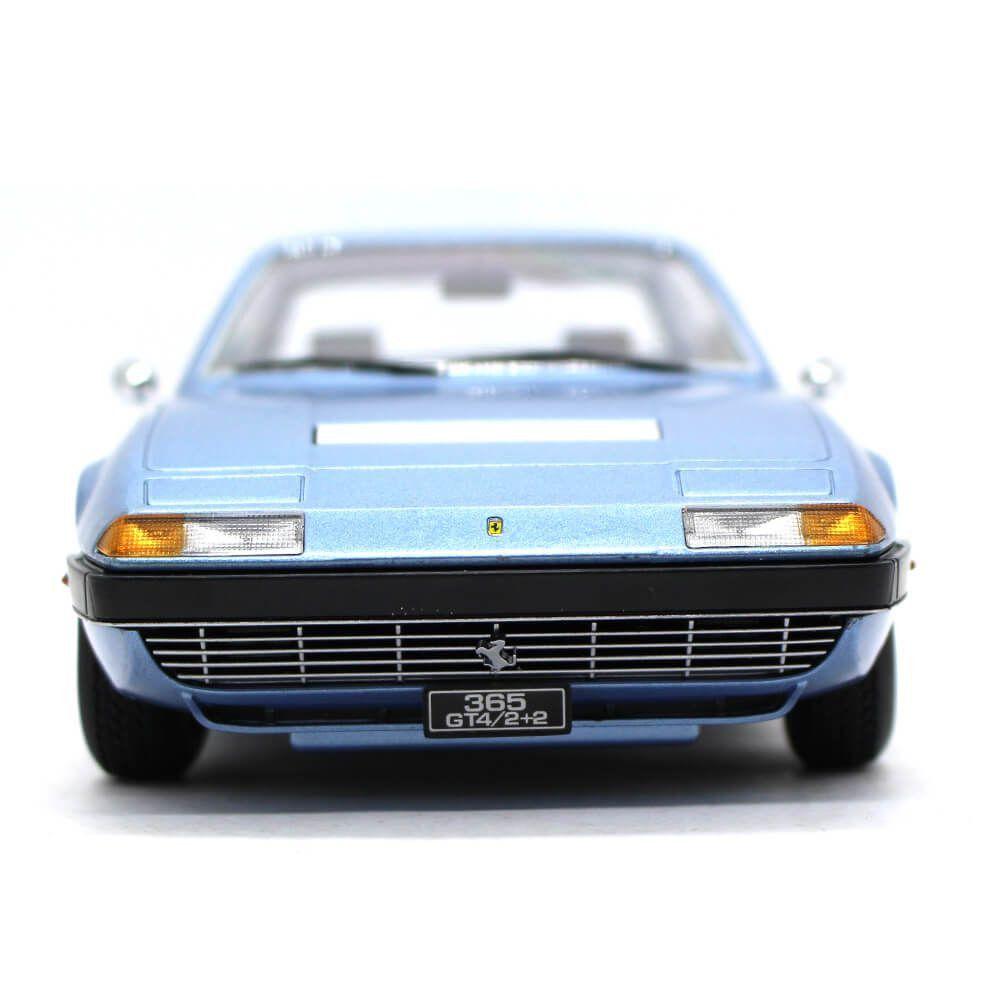 Miniatura Ferrari 365 GT4 2+2 1972 Azul 1/18 KK Scale Models